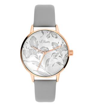 s.Oliver bracelet similicuir gris SO-3642-LQ