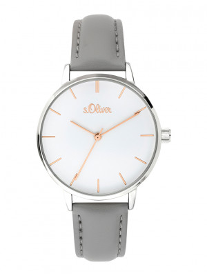 s.Oliver bracelet similicuir gris SO-3645-LQ