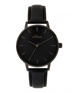 s.Oliver bracelet similicuir noir SO-3647-LQ