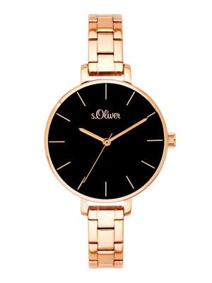 s.Oliver bracelet de montre acier affiné rose SO-3649-MQ
