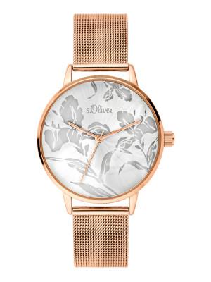 s.Oliver bracelet de montre acier affiné argentin SO-3641-MQ