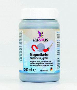 Magnetfarbe grau, 200ml