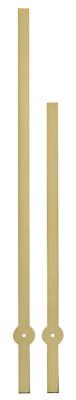 Pair of hands Eurocode Bar yellow, Minutehand length 100mm/ 75mm
