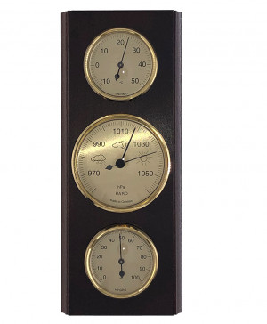 Weather Station Made in Germany, Walnut