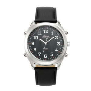 Atlanta 8908/7 silber sprechende Armbanduhr