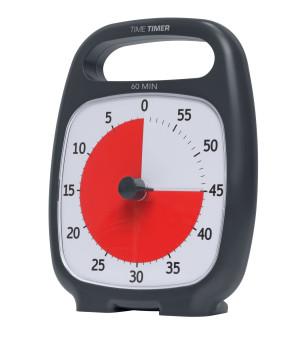 TIME TIMER Plus, schwarz - 60 Minuten