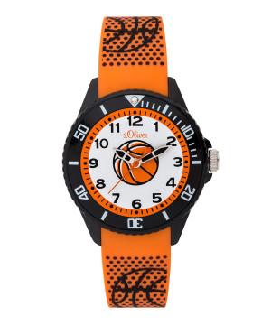 s.Oliver SO-3759-PQ silicone rubber strap orange