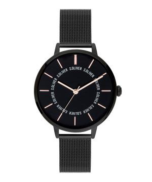 s.Oliver SO-3697-MQ stainless steel strap black