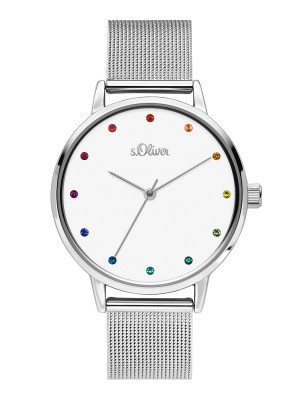 s.Oliver SO-3780-MQ stainless steel strap silver