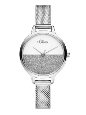 s.Oliver SO-3745-MQ stainless steel strap silver