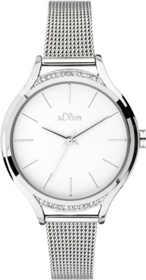 s.Oliver SO-3694-MQ stainless steel strap silver