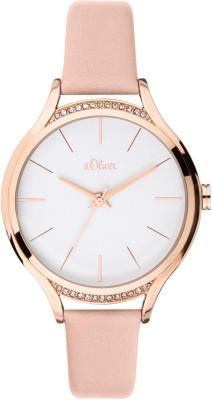 s.Oliver SO-3695-LQ similicuir bracelet rose