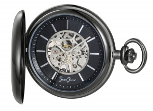 Jean Jacot Pocket Watch skeletonized with manual hand winding movement