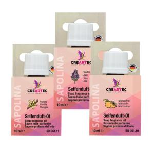 Seifenduft-Öl - 3er-Set - Flieder, Mandarine, Vanille
