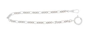 Pocket watch chain Figaro curb chain round, brass nickeled