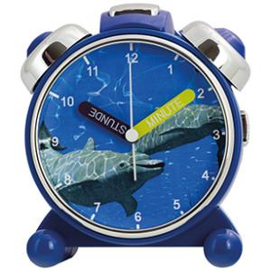 Réveil d'apprendre l'heure pour enfants, dauphin
