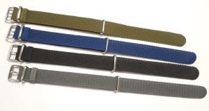 Nato Bracelet en perlon bleu 20mm