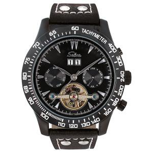 SELVA Montre-bracelet d'homme »Hector« - tachymètre - noir