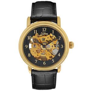 SELVA Montre-bracelet d'homme »Lyan« - doré-noir