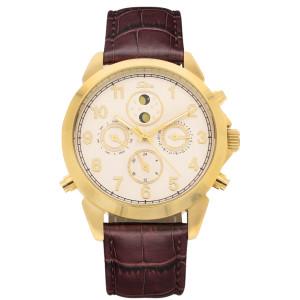 SELVA Men's Watch »Santos« - sun/moon - gilded
