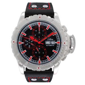 SELVA Montre-bracelet d'homme »Vasco« - noir-rouge