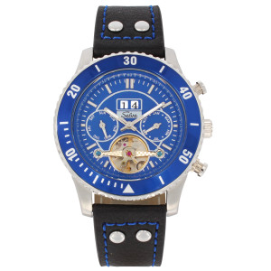 SELVA Men's Watch »Vito« - Big Date - blue
