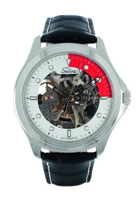 SELVA Herren-Armbanduhr »Ivo« - creme-rot