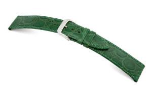Lederband Bahia 8mm apfelgrün mit Krokodillederprägung