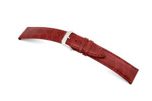 Lederband Bahia 8mm bordeaux mit Krokodillederprägung