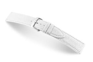 Lederband Pasadena 14 mm weiß