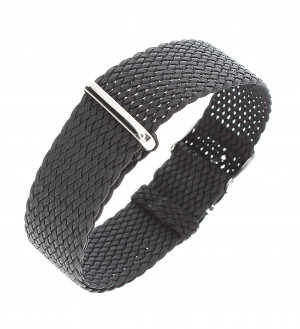 Nato Bracelet en Perlon noir 20mm