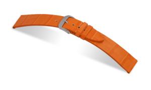 Lederband Charleston 12mm orange mit Alligatorprägung