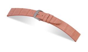 Lederband Charleston 12mm rosa mit Alligatorprägung