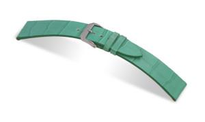 Lederband Charleston 12mm türkis mit Alligatorprägung