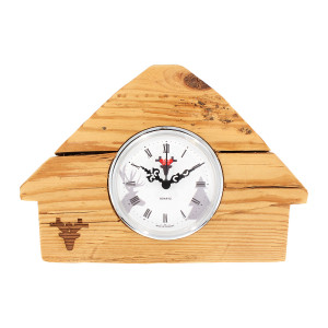 Matured forest clock, Made in Germany, white dial, Black Forest lodge
