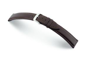 Bracelet-montre en cuir Corona 18mm moka