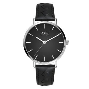s.Oliver SO-3842-LQ Genuine leather black 16mm