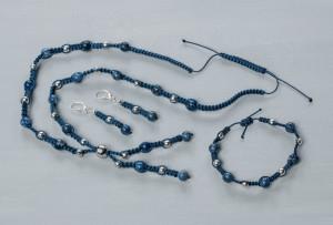 Handcraft jewellery set Sodalith