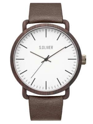 s.Oliver SO-3751-LQ Genuine leather brown 20mm