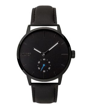 s.Oliver SO-3753-LQ Genuine leather black 20mm