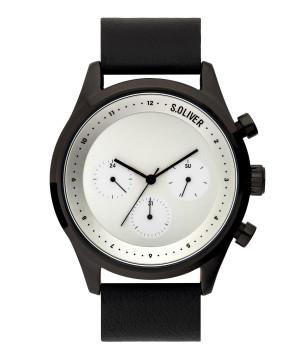 s.Oliver SO-3721-LM Genuine leather black 22mm