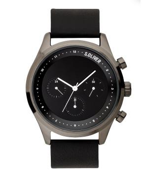 s.Oliver SO-3722-LM Genuine leather black 22mm