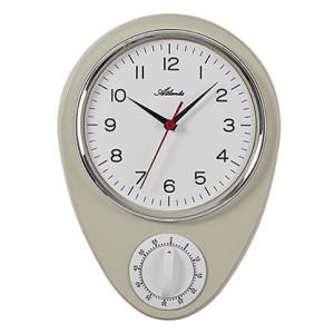 Atlanta 6114/1 kitchen clock white