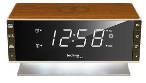 TECHNOLINE Réveil avec radio, avec Qi superficie de charge