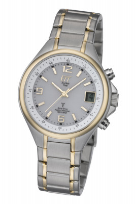 ETT Solar drive radio controled Wristwatch, Ø 39mm, silver