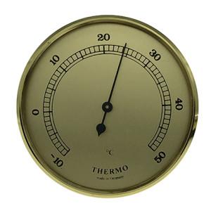 Thermometer Einbau-Wetterinstrument Ø 85mm, gold