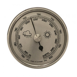 Barometer build-in weather instrument Ø 65mm, silver