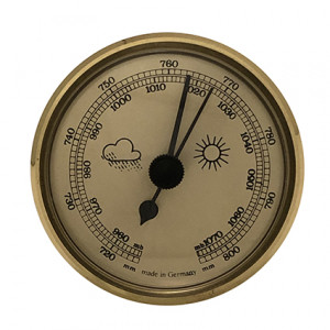 Barometer build-in weather instrument Ø 65mm, gold