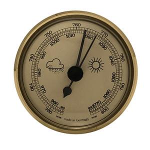Barometer Einbau-Wetterinstrument Ø 85mm, gold