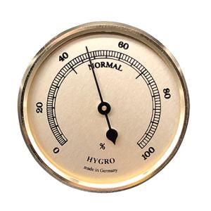 Hygrometer build-in weather instrument Ø 85mm, gold